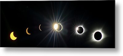 Total Solar Eclipse Sequence Metal Print