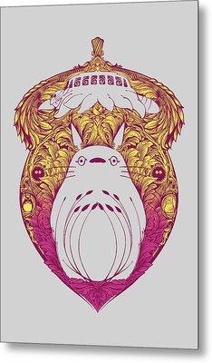 Totoro Victoriana Metal Print by Vincent Carrozza
