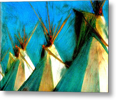 Touching Earth Reaching Sky Metal Print by FeatherStone Studio Julie A Miller
