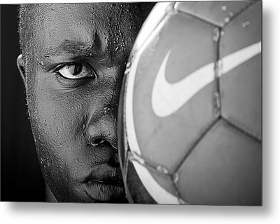 Tough Like A Nike Ball Metal Print by Val Black Russian Tourchin
