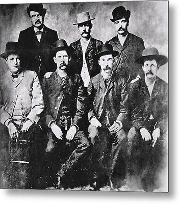 Tough Men Of The Old West Metal Print by Daniel Hagerman