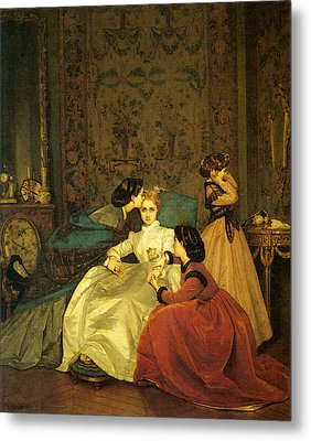 Toulmouche Auguste The Reluctant Bride Metal Print