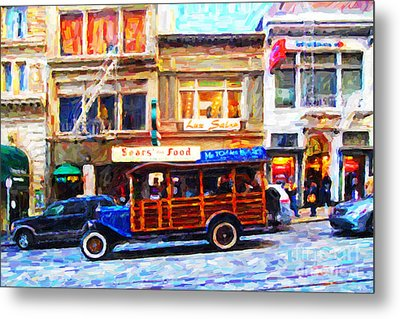 Touring The Streets Of San Francisco Metal Print