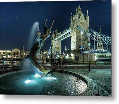Tower Bridge In London Metal Print by Vulture Labs