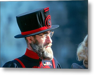 Metal Print featuring the photograph Tower Of London Guard by Douglas Pike