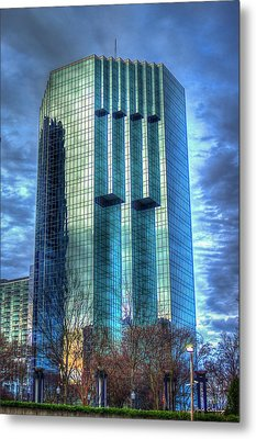 Tower Place Dawn Buckhead Atlanta Office Tower Art Metal Print by Reid Callaway