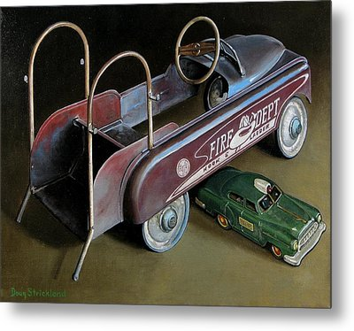 Toy Crossroads Metal Print by Doug Strickland