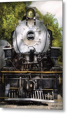 Train - Engine - 4039 American Locomotive Company  Metal Print by Mike Savad