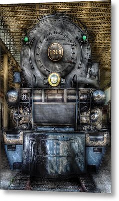 Train - Engine -1218 - Norfolk Western Class A - 1218 - Front View Metal Print by Mike Savad