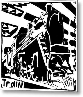 Train Maze Metal Print by Yonatan Frimer Maze Artist
