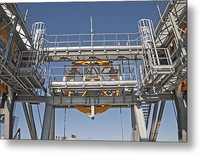 Tram Mechanics - Jackson Hole Wyoming Metal Print by Steve Ohlsen