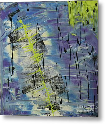 Metal Print featuring the painting Tranquil Dream I by Cathy Beharriell