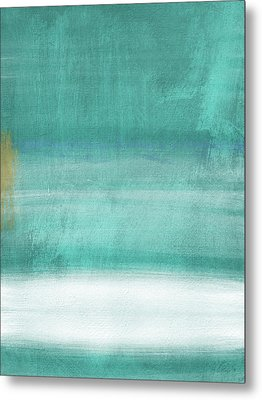 Tranquil Horizon- Art By Linda Woods Metal Print by Linda Woods