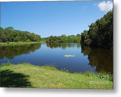 Metal Print featuring the photograph Tranquil Lake by Gary Wonning