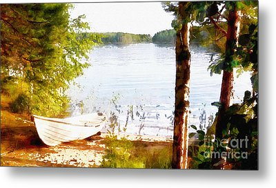 Tranquil River Metal Print by Shirley Stalter