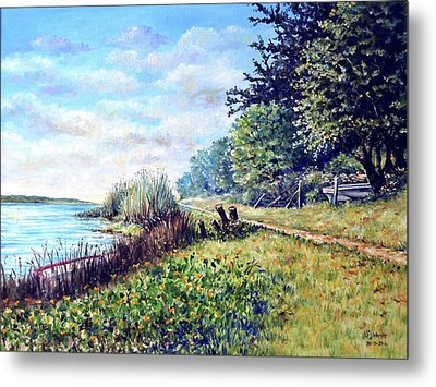 Metal Print featuring the painting Tranquility by Heidi Kriel