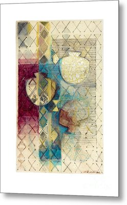 Metal Print featuring the painting Trans Xs No 1 by Kerryn Madsen- Pietsch