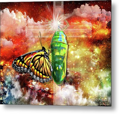 Transformed By The Truth Metal Print by Dolores Develde