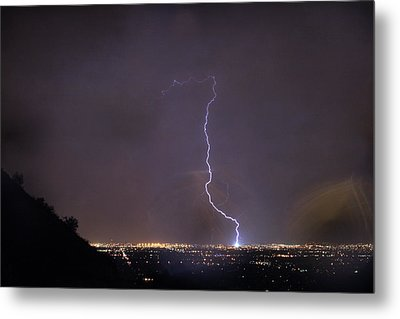 Metal Print featuring the photograph It's A Hit Transformer Lightning Strike by James BO Insogna