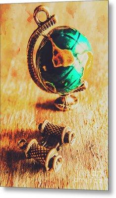 Travellers Globe Metal Print by Jorgo Photography - Wall Art Gallery