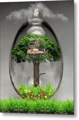 Tree House Art Metal Print by Marvin Blaine