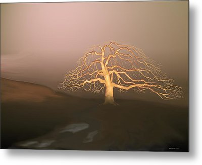 Metal Print featuring the digital art Tree In Winter I by Kerry Beverly