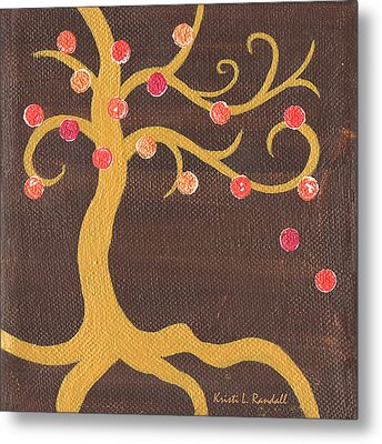 Tree Of Life - Left Metal Print by Kristi L Randall