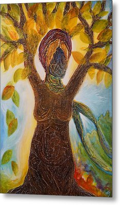 Tree Woman Metal Print