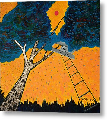 Treehouse Metal Print by Randall Weidner