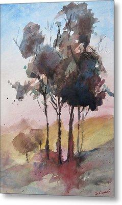 Trees Metal Print by Geni Gorani