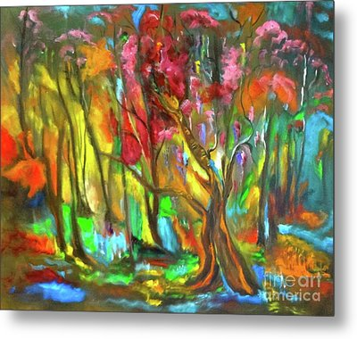 Trees Metal Print by Jenny Lee