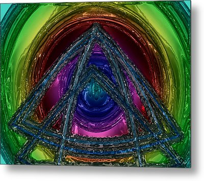 Triangle Metal Print by Patrick Guidato