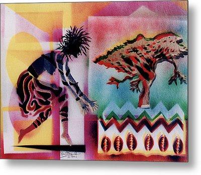 Tribal Dancer Metal Print