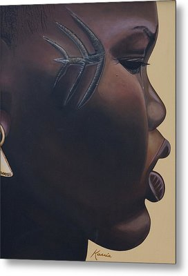 Tribal Mark Metal Print by Kaaria Mucherera