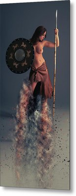 Tribal Warrior Metal Print by Nichola Denny