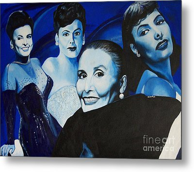 Tribute To Lena Horne Metal Print by Chelle Brantley
