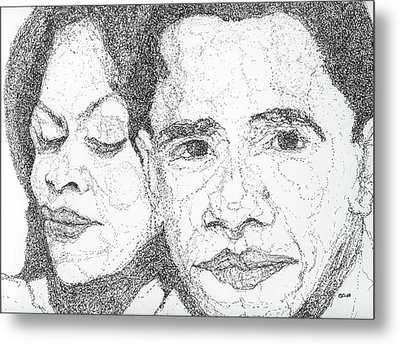 Tribute To Michelle And Barack Obama Metal Print by Michelle Gilmore