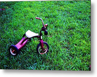 Tricycle Metal Print by Beverly Hammond