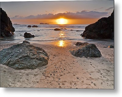 Trinidad State Beach Sunset Metal Print by Greg Nyquist