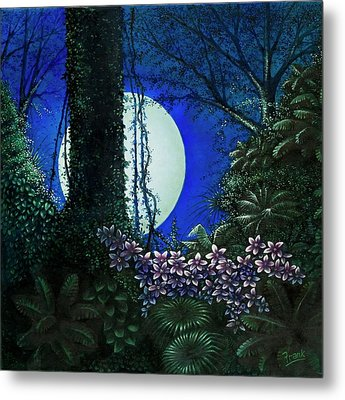 Metal Print featuring the painting Tropic Moon by Michael Frank
