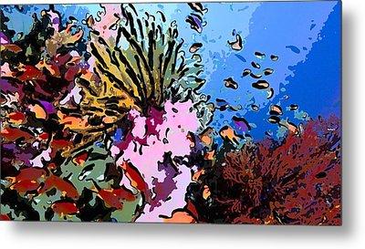 Tropical Coral Reef  2 Metal Print