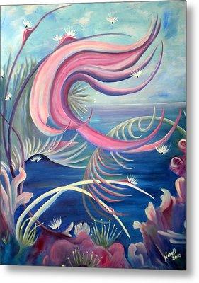 Metal Print featuring the painting Tropical Dancer by Renate Nadi Wesley