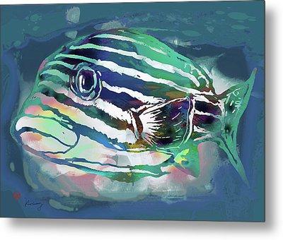 Tropical Fish - New Pop Art Poster Metal Print