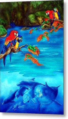 Tropical Lagoon Metal Print