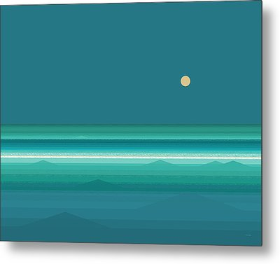 Tropical Seas Metal Print by Val Arie