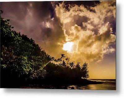 Tropical Sunset Metal Print