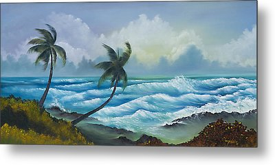 Tropical Wind Metal Print by George Bloise