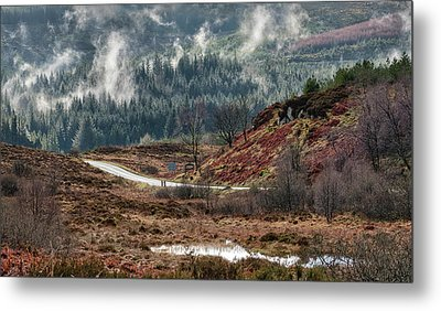 Metal Print featuring the photograph Trossachs National Park In Scotland by Jeremy Lavender Photography
