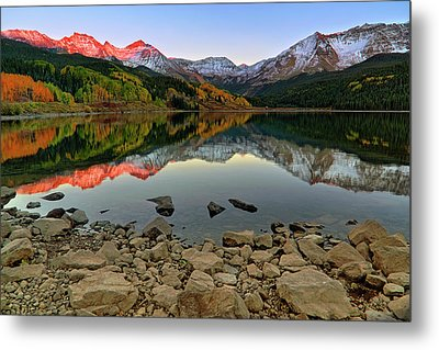 Metal Print featuring the photograph Trout Lake Reflections - Colorado - Rocky Mountains by Jason Politte