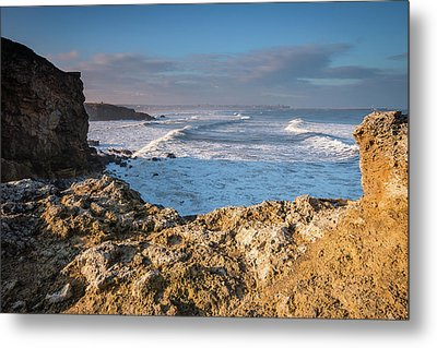 Trow Point At South Shields Metal Print by David Head